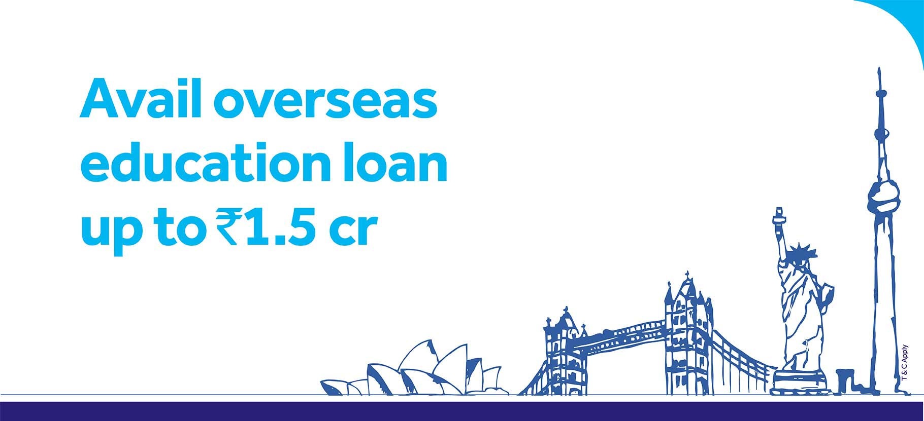 Avail overseas education loan up to rs1.5cr